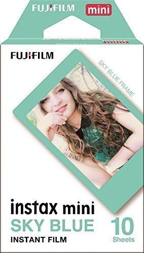 Fujifilm Instax Mini Instant Film 4-PACK BUNDLE SET SKY BLUE 10 + Black Frame 10 + Monochrome 10 + Twin 20 90 8 70 7s 50s 25 300 Camera SP-1 Printer [並行輸入品]   B079VLFR8L