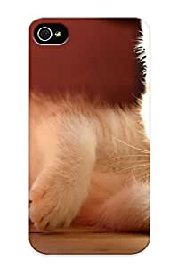 Pailslopeoo Iphone 4/4s Well-designed Hard Case Cover Cute Cat Protector For New Year's Gift