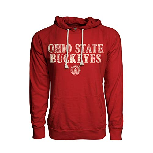 - Top of the World Ohio State Buckeyes Official NCAA Red Large Heritage Slub Hoodie Jersey Lightweight Pullover Sweatshirt 221620