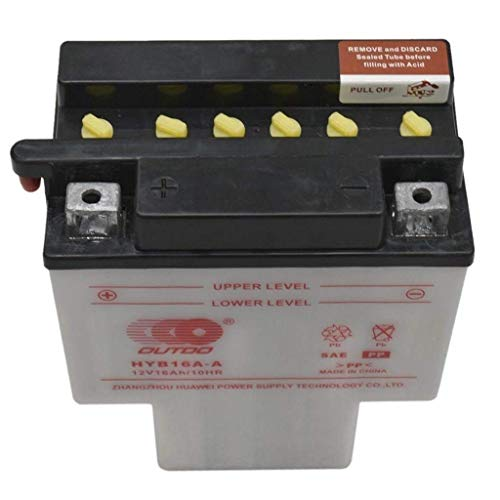 WPHMOTO 12V HYB16A-AB T-Shaped Motorcycle Battery for Honda VT700 VT750 VT1100 Shadow Spirit Aero ACE