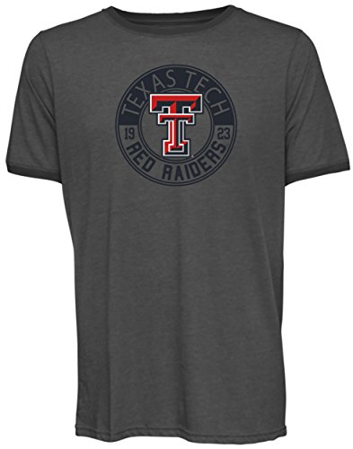 NCAA Texas Tech Red Raiders Men's Short Sleeved Heathered Jersey, Large, Charcoal