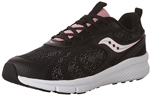 Saucony Velocity Running Shoe, Black, 4.5 W US Big Kid by Saucony