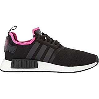 adidas Originals Men's NMD_R1 Running Shoe, Black/Black/Shock Pink, 12.5 M US