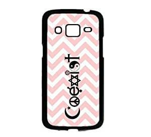 Coexist Baby Pink Zig Zag Cute Hipster Samsung Galaxy Grand 2 G7106 Case - Fits Samsung Galaxy Grand 2 G7106