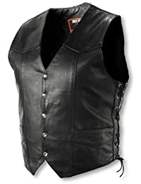Interstate Leather Men's Basic Vest with Side Lace (Large)