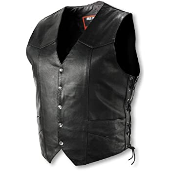 8d0adc311 Interstate Leather Men's Basic Vest with Side Lace (Small)