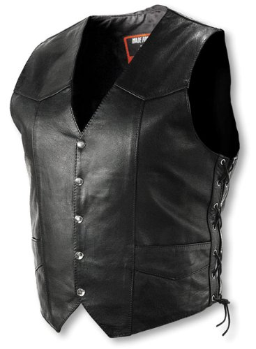 Interstate Leather Tall Men's Basic Vest with Side Lace (XXX-Large)
