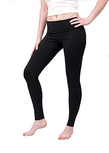 Hard Tail Supplex Flat Waist Ankle Legging (L, Black)