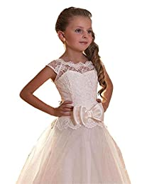Yuanlu Lace Flower Girl Dress for Weddings First Communion Dresses