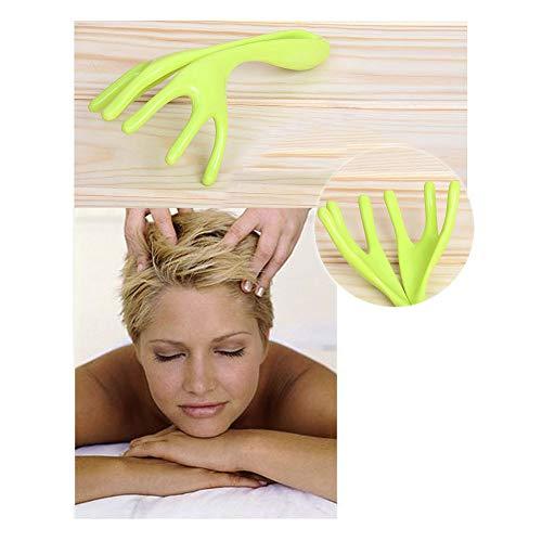 ERLIANG Masajeador de Cuero cabelludo Manual Masajeador de Cabeza con Seis mandíbulas
