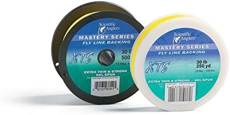 Scientific Anglers XTS Gel Spun Fly Line Backing, 30 lb Test, Yellow – 100, 150, 200, 250, 300, 400, 500 up to 3000 yds