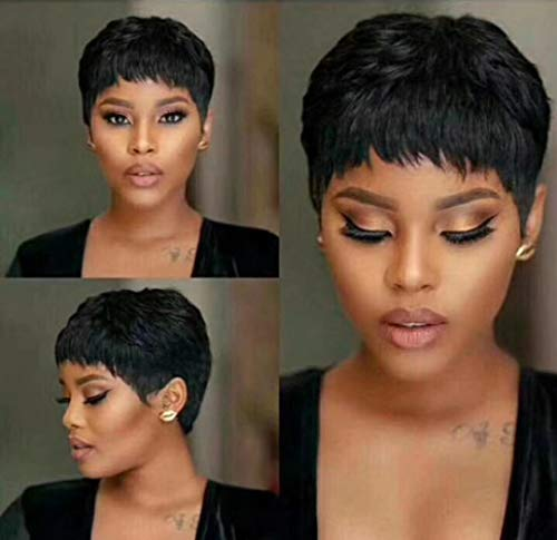 BeiSD Short Pixie Cut Hair Natural Synthetic Wigs For Women Heat Resistant Wig Natural Hair Women's Fashion Wig ... (BSD-Z004)]()