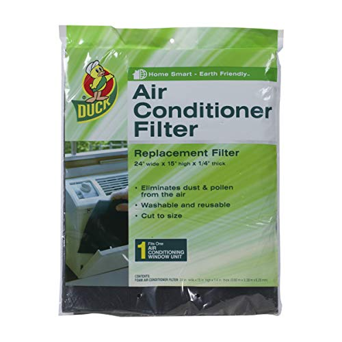 Duck Brand Replacement Air Conditioner Foam Filter, 24-Inch x 15-Inch x 1/4-Inch, 1285234 -