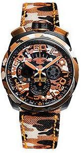 [ボンバーグ] メンズ 腕時計 クオーツ クロノグラフ 懐中時計 ポケットウォッチ ボルト68 カモフラージュ サハラ リミテッドエディション BOLT-68 BS45CHPCA.047.3 ナイロンベルト 迷彩 カモ