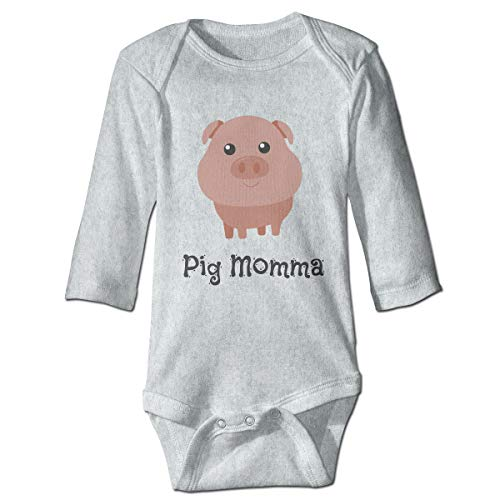 XHX Baby's Cute Pig Momma Long Sleeve Romper Onesie Bodysuit Jumpsuit