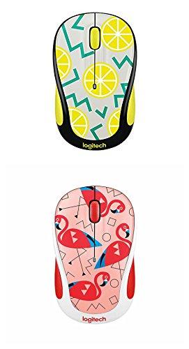 Logitech M325c Wireless Mouse Flamingo Pink & Lemon Yellow ()