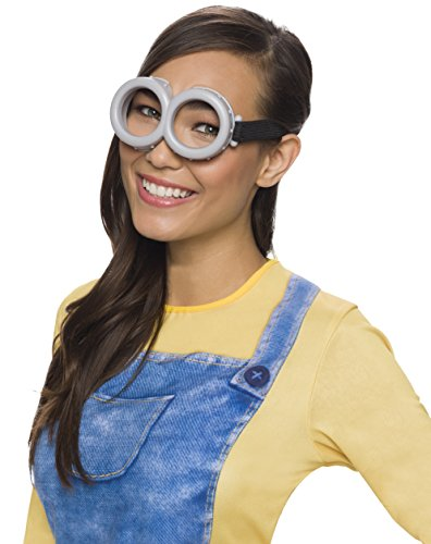 Evil Minions Costumes (Rubie's Costume Minion Goggles (Grey - One)