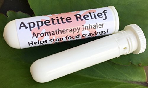 APPETITE RELIEF Aromatherapy Inhaler! Helps Stop Food Cravings. Diet Weight Loss Aid, Hunger Control, Botanical Blend, 100% Natural Drug-Free Alternative Nasal Stick (Inhaler Appetite Control)