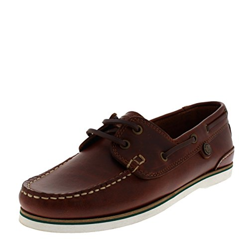 Mahogany Leather Boat Barbour Womens Bowline Flat Casual Shoes Moccasin Summer 1qHXzT6X