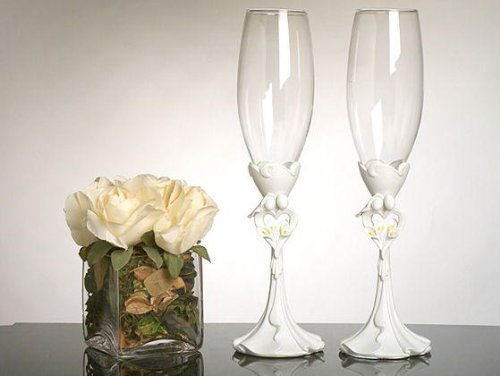 Calla Lily Toasting Glasses - 3
