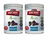 Energy Support Powder - ACAI Juice Powder - Organic Dietary Supplement - acai Energy Powder - 2 Cans 16 OZ (130 Servings)
