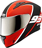 Brotherhood safety gears Studds Thunder D3 with Mirror Visor Matt Red Full Face (Size L/580 mm)