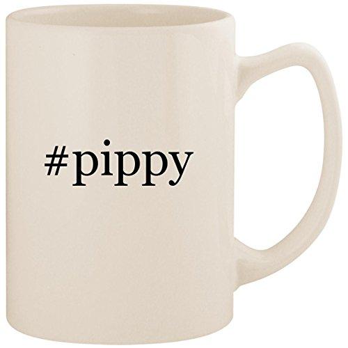 #pippy - White Hashtag 14oz Ceramic Statesman Coffee Mug Cup