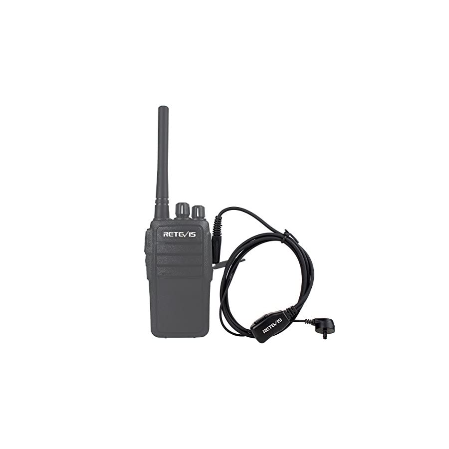 Retevis 2 Pin Acoustic Tube Headset Walkie Talkies Earpiece for Kenwood Radio Baofeng UV 5R Retevis H 777 RT21 RT22 Two Way Radio(10 Pack)