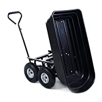 650LB Garden Dump Cart Dumper Wagon Carrier Wheel Barrow Air Tires Heavy Duty NEW