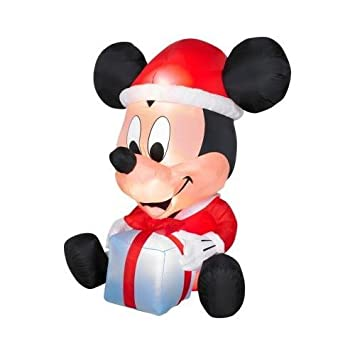 Amazon.com: 6ft Egg Noggin Disney Mickey Mouse Inflatable Holiday ...