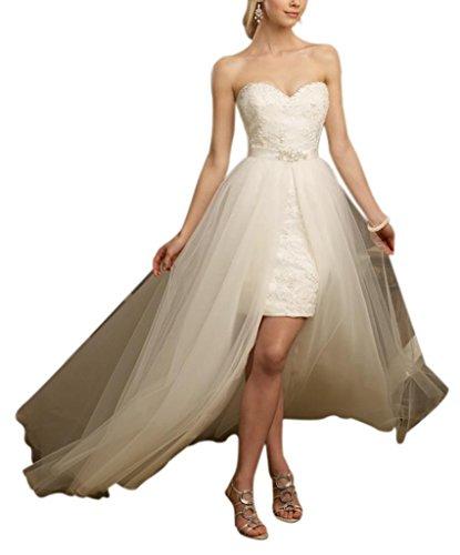 Zug Schatz All GEORGE High Elfenbein Lace Brautkleider Freistehendes Hochzeitskleider Over traegerloser Low BRIDE FxIzwnqIXU