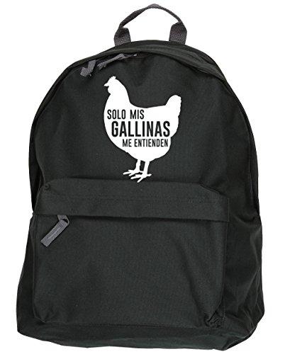 HippoWarehouse Solo Mis Gallinas Me Entienden kit mochila Dimensiones: 31 x 42 x 21 cm Capacidad: 18 litros Negro