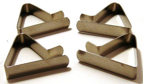 Tischdeckenklammern - 4 Stück - Edelstahl - erweiterbar auf bis zu 5 cm Dicke