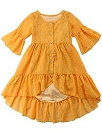061ee01ab Toddler Baby Girl Boho Ruffle Half Sleeve Princess Dress Party Sundress 2-7T