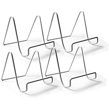 Wire Easel Plate Stands Display Holder - White Vinyl Coated Metal - 4 Inch - Pack  sc 1 st  Amazon.com & Amazon.com: Wire Easel Plate Stands Display Holder - White Vinyl ...
