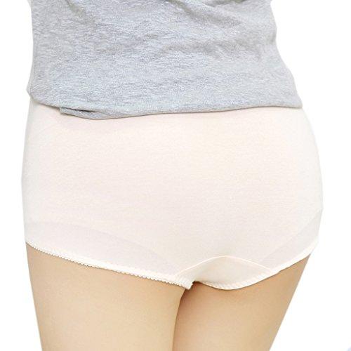 Cotton Whisper 3mutande per gestante con stampa smile, regolabili Premaman