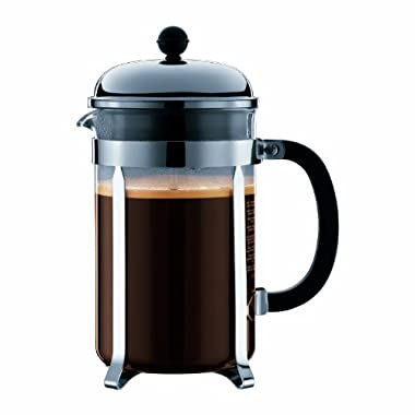Bodum Chambord French Press Coffee Maker, 12 Espresso Cup, 51oz, Chrome