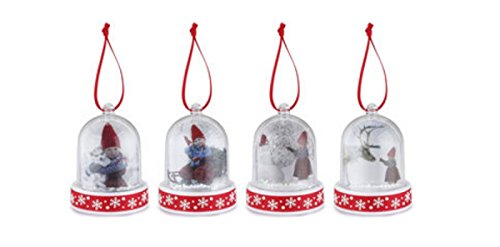 The Christmas Wish Be Brave Be Kind Mini Snow Globe Ornament Set of (Mini Snowglobe Ornament)