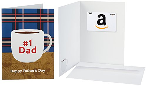 Amazon.com $100 Gift Card in a Greeting Card (Happy Father's Day Design)