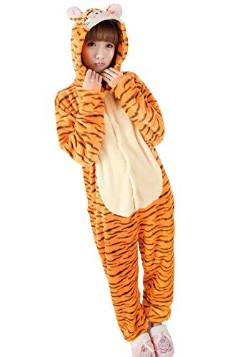 [Adult Halloween Cosplay Tiger Animal Pajamas Animal Onesie sleepwear (S (60