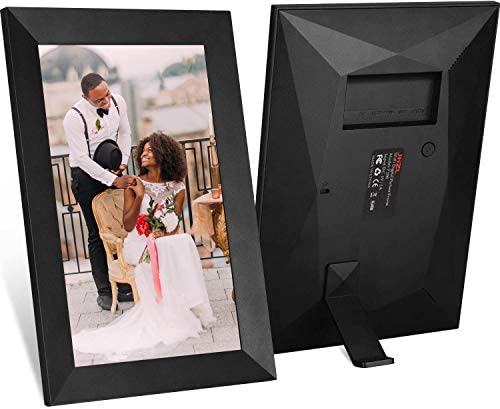 Ulltimaxx 10.1 Inch 16GB 40,000 Pics WiFi Digital Photo Frame with HD IPS Display Touch Screen – Share Moments Instantly via Frameo App from Anywhere