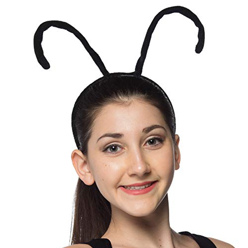Novelty Nation Antenna Bug Headband - Costume Accessory Black ()