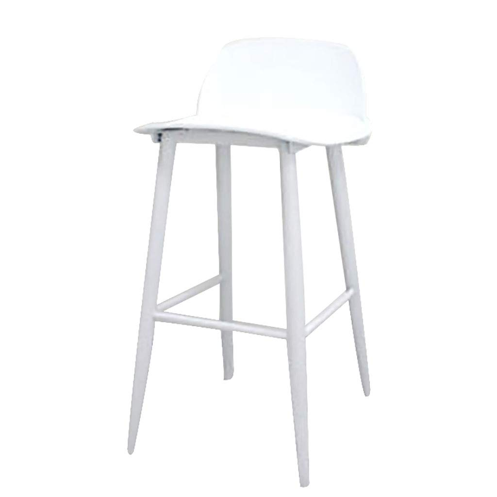 75cm-white Bar Stools Nerd Replica Design Retro Modern Muuto Scandinavian Bar Stools for Cafe Counter Kitchen Metal Legs Plastic Seat