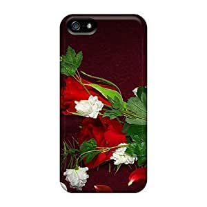 Fashionable Style Case Cover Skin For Iphone 5/5s- Hearts Flowers