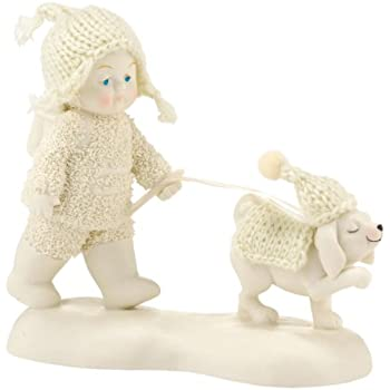 "Department 56 Snowbabies ""Dog Days of Winter"" Porcelain Figurine, 4.5"""