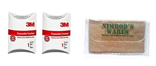 Nimrod's Wares 2-Pack PELTOR 3M Disposable EARPLUGS Hearing Protection NRR 29dB 90581 Microfiber - Foam Peltor Plugs Disposable