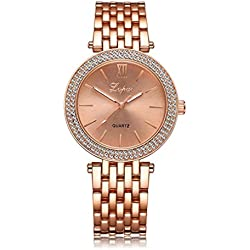 GBSELL Fashion Women Lady Watches Quartz Wristwatch Clock Dress Watch,Rose Gold