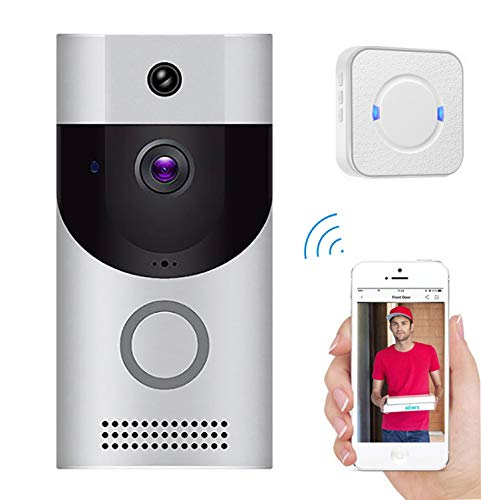 (Love of Life WiFi Video doorbell Camera,Smart Home Remote Monitoring intercom System Two-Way Voice Call, Motion Detection,Wireless Home IP Door Bell Camera and Indoor Ringer,Silver)