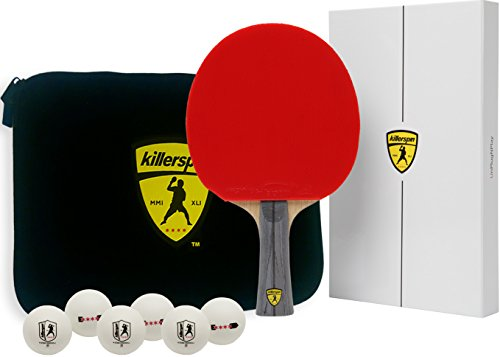 Killerspin Jet600 XL Combo: Table Tennis Paddles with Paddle Case and Six 4 star Balls by Killerspin
