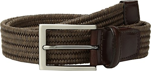 Torino Leather Co. Men's 35mm Italian Flat Strand Braided Elastic Rayon Melange -